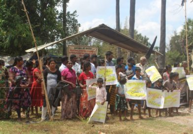 Land occupation, militarization, and resettlement in the North and East of Sri Lanka.